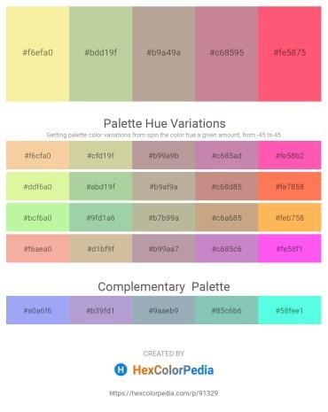 Palette image download - Khaki – Tan – Rosy Brown – Rosy Brown – Salmon