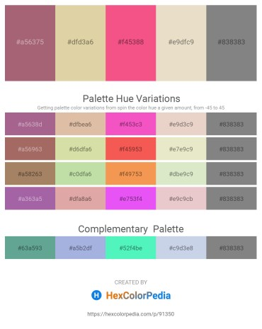 Palette image download - Rosy Brown – Tan – Salmon – Beige – Gray