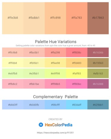 Palette image download - Moccasin – Navajo White – Navajo White – Light Salmon – Rosy Brown