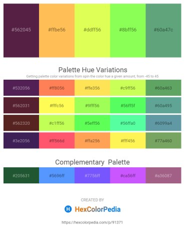 Palette image download - Brown – Sandy Brown – Green Yellow – Green Yellow – Cadet Blue