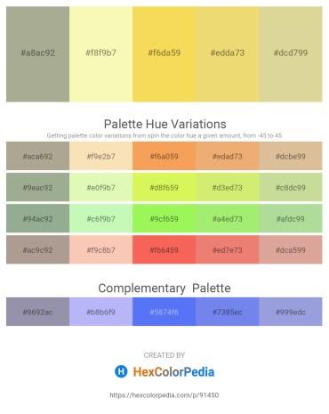 Palette image download - Dark Sea Green – Light Goldenrod Yellow – Dark Olive Green – Khaki – Tan