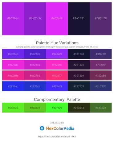 Palette image download - Blue Violet – Blue Violet – Dark Violet – Midnight Blue – Dark Slate Blue