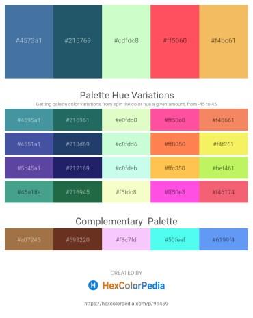 Palette image download - Steel Blue – Cornflower Blue – Honeydew – Tomato – Sandy Brown