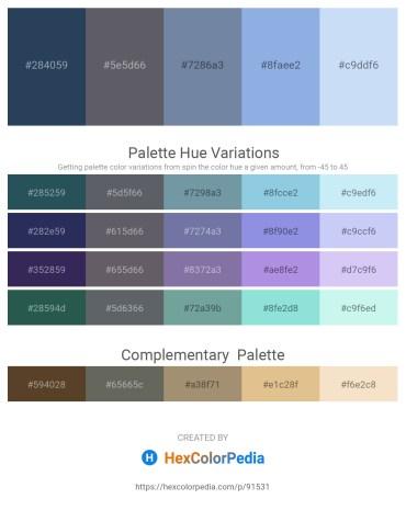 Palette image download - Dark Slate Gray – Slate Gray – Light Slate Gray – Sky Blue – Lavender