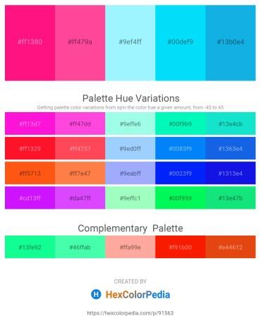 Palette image download - Deep Pink – Hot Pink – Light Sky Blue – Deep Sky Blue – Deep Sky Blue
