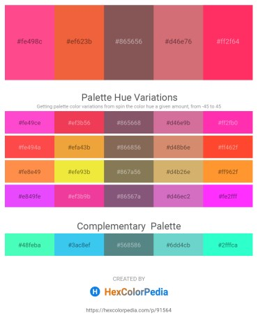 Palette image download - Hot Pink – Tomato – Dim Gray – Indian Red – Deep Pink