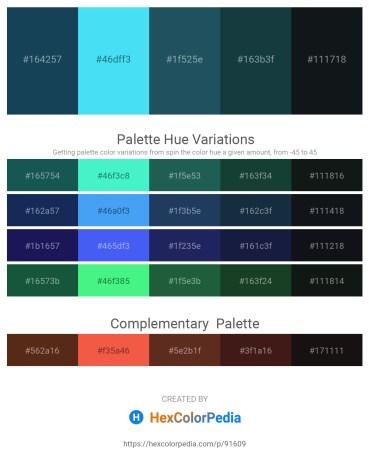 Palette image download - Midnight Blue – Turquoise – Olive Drab – Dark Slate Gray – Dark Slate Gray