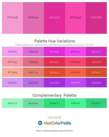 Palette image download - Violet – Pale Violet Red – Medium Violet Red – Hot Pink – Medium Violet Red