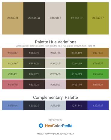 Palette image download - Dark Khaki – Coral – Light Gray – Dark Olive Green – Yellow Green