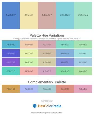 Palette image download - Slate Blue – Wheat – Tan – Light Blue – Powder Blue