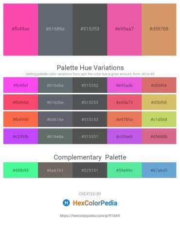 Palette image download - Hot Pink – Slate Gray – Dark Slate Gray – Pale Violet Red – Burlywood