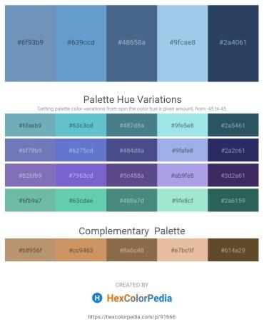 Palette image download - Cadet Blue – Steel Blue – Dark Slate Blue – Light Blue – Dark Slate Gray
