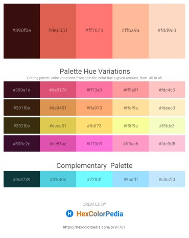 Palette image download - Midnight Blue – Indian Red – Salmon – Navajo White – Bisque