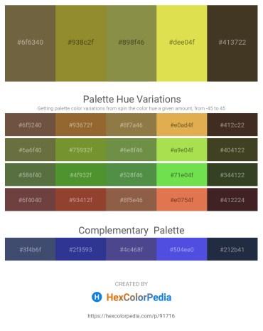 Palette image download - Dark Olive Green – Olive Drab – Dark Olive Green – Goldenrod – Wheat