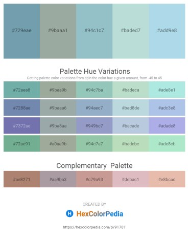 Palette image download - Cadet Blue – Dark Sea Green – Light Steel Blue – Light Steel Blue – Light Blue
