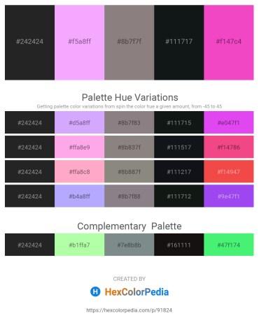 Palette image download - Black – Gray – Gray – Dark Slate Gray – Hot Pink