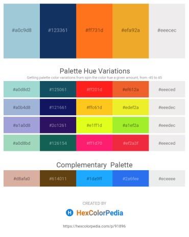 Palette image download - Light Steel Blue – Midnight Blue – Dark Orange – Goldenrod – White Smoke