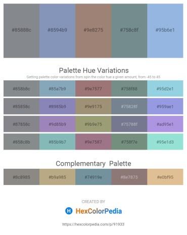 Palette image download - Slate Gray – Light Slate Gray – Rosy Brown – Slate Gray – Light Blue