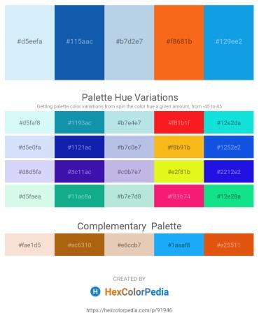 Palette image download - Lavender – Light Slate Gray – Light Blue – Orange Red – Dodger Blue