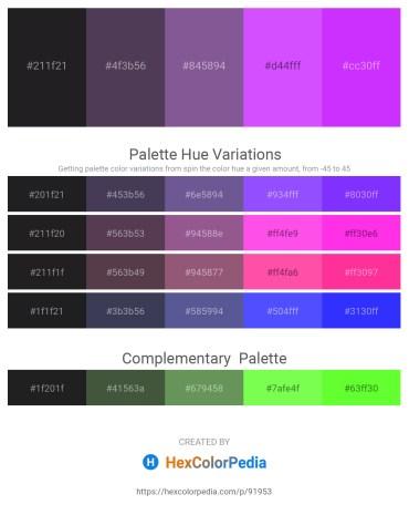 Palette image download - Black – Dark Slate Blue – Dark Slate Blue – Medium Slate Blue – Dark Violet