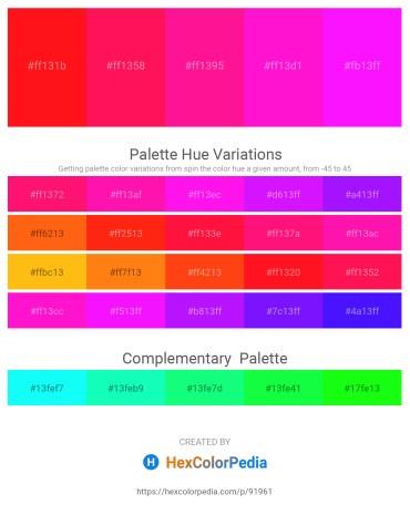 Palette image download - Red – Deep Pink – Deep Pink – Magenta – Lawn Green