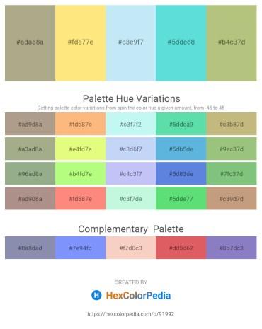 Palette image download - Medium Slate Blue – Navajo White – Pale Turquoise – Turquoise – Dark Khaki