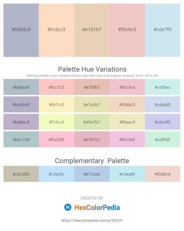 Palette image download - Light Steel Blue – Bisque – Pale Goldenrod – Dark Sea Green – Powder Blue