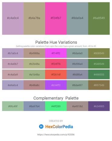 Palette image download - Thistle – Slate Blue – Hot Pink – Light Slate Gray – Dark Olive Green