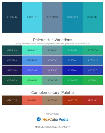 Palette image download - Midnight Blue – Turquoise – Cadet Blue – Light Sea Green – Light Sea Green