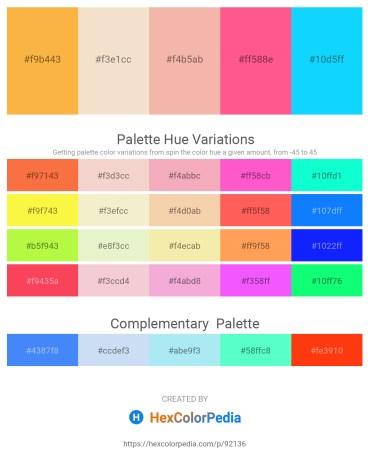 Palette image download - Sandy Brown – Linen – Royal Blue – Hot Pink – Deep Sky Blue