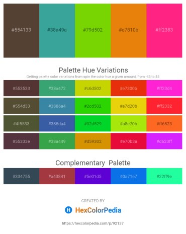 Palette image download - Dark Slate Blue – Medium Sea Green – Lawn Green – Dark Orange – Deep Pink