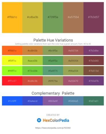 Palette image download - Orange – Salmon – Dark Sea Green – Black – Dim Gray
