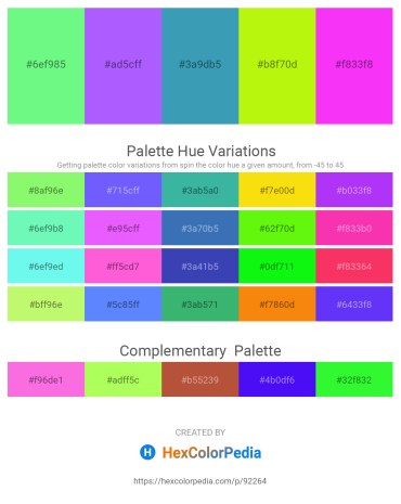 Palette image download - Pale Green – Medium Slate Blue – Steel Blue – Green Yellow – Magenta