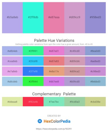 Palette image download - Thistle – Aqua – Pale Violet Red – Plum – Medium Purple