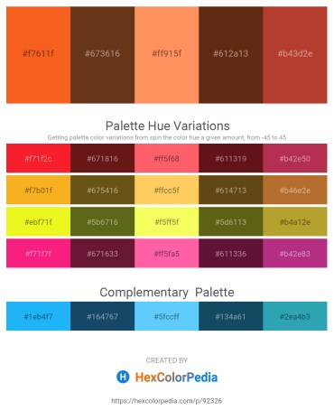 Palette image download - Orange Red – Saddle Brown – Coral – Saddle Brown – Brown