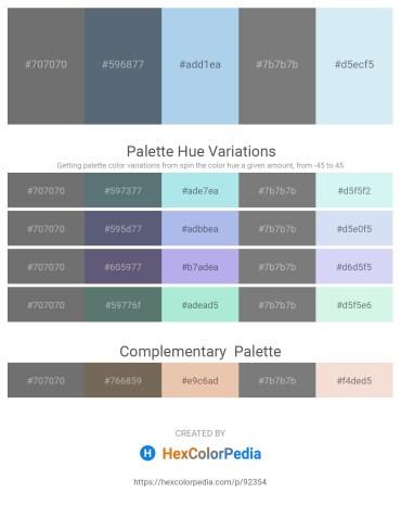 Palette image download - Dim Gray – Slate Gray – Light Blue – Gray – Lavender