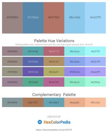 Palette image download - Gray – Cadet Blue – Rosy Brown – Sky Blue – Light Sky Blue