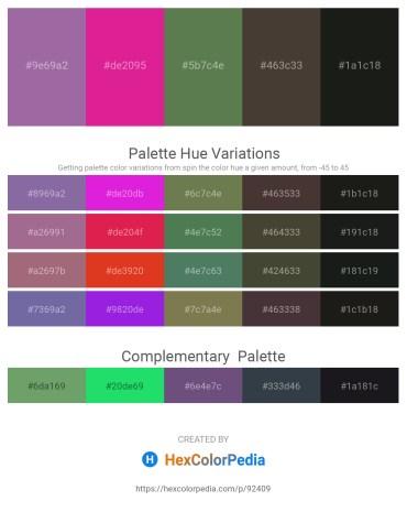 Palette image download - Medium Purple – Medium Violet Red – Dark Olive Green – Violet – Black