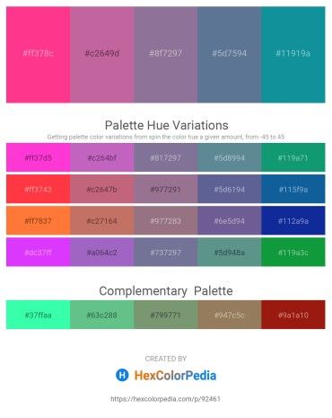 Palette image download - Deep Pink – Pale Violet Red – Navajo White – Slate Gray – Light Sea Green