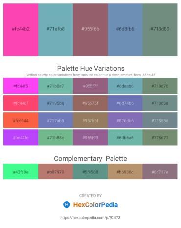 Palette image download - Hot Pink – Cadet Blue – Turquoise – Cadet Blue – Slate Gray