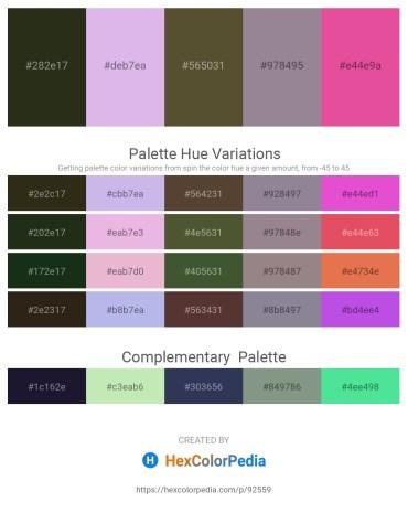Palette image download - Dark Slate Gray – Lavender – Dark Olive Green – Gray – Pale Violet Red