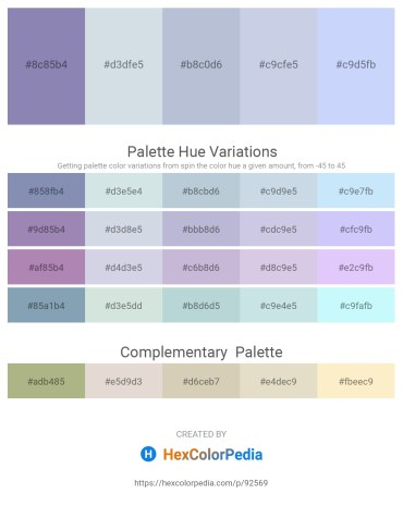 Palette image download - Light Slate Gray – Light Steel Blue – Light Steel Blue – Light Steel Blue – Alice Blue