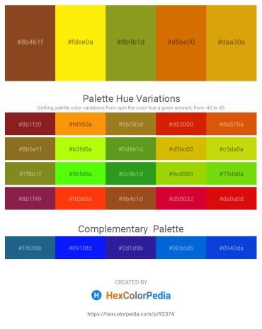 Palette image download - Sienna – Yellow – Olive Drab – Dark Goldenrod – Dark Goldenrod