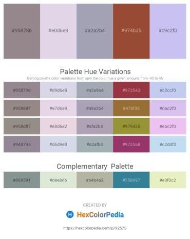 Palette image download - Gray – Light Steel Blue – Light Slate Gray – Sienna – Lavender