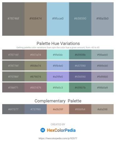 Palette image download - Dim Gray – Gray – Light Blue – Slate Gray – Light Slate Gray