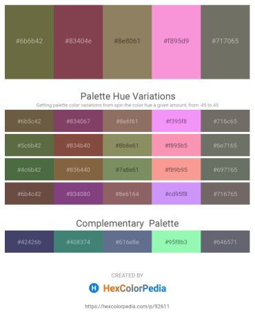Palette image download - Dark Olive Green – Dark Sea Green – Gray – Violet – Dim Gray
