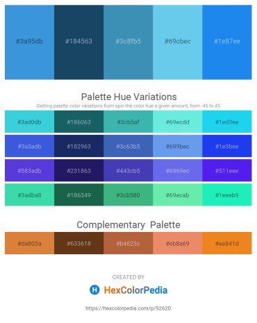 Palette image download - Royal Blue – Midnight Blue – Steel Blue – Sky Blue – Dodger Blue