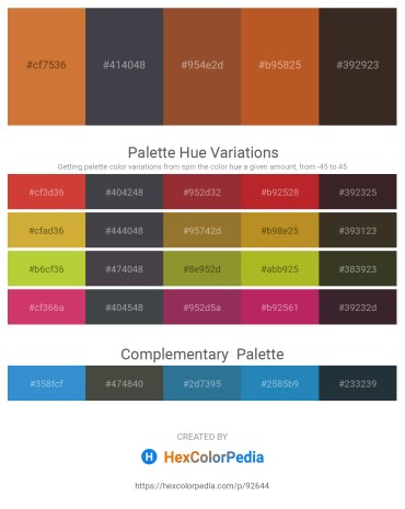 Palette image download - Peru – Dark Slate Gray – Sienna – Chocolate – Violet