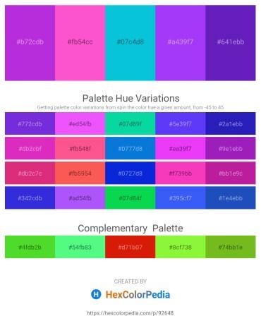 Palette image download - Dark Orchid – Hot Pink – Dark Turquoise – Blue Violet – Blue Violet