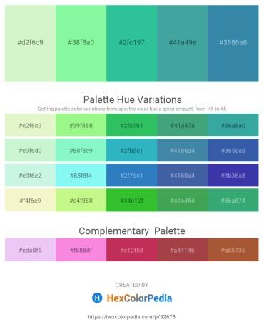 Palette image download - Light Goldenrod Yellow – Pale Green – Light Sea Green – Gray – Steel Blue